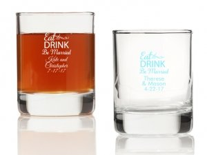 Eat Drink Be Married Personalized Votives or Shot Glass image