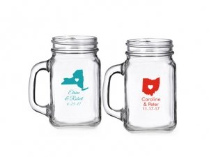 State Love Personalized Mini Mason Glass image