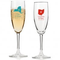 State Love Personalized Champagne Flutes