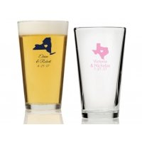 State Love Personalized 16 oz Pint Glass