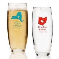 State Love Personalized Stemless Champagne Glass