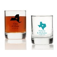State Love Personalized Votives or Shot Glass