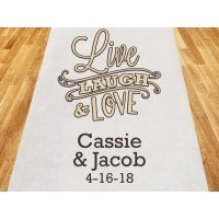 Live Laugh and Love Personalized Wedding Aisle Runner