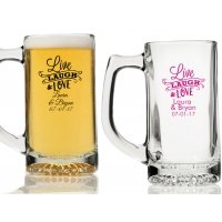 Live Laugh and Love Personalized Beer Mugs