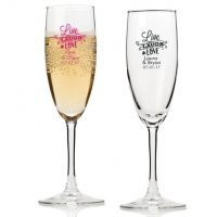 Live Laugh and Love Personalized Champagne Flutes