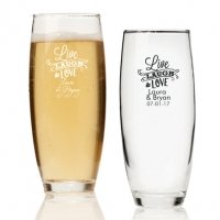 Live Laugh and Love Personalized Stemless Champagne Glass