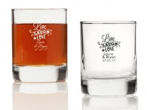 Live Laugh and Love Personalized Votives or Shot Glass image