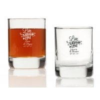 Live Laugh and Love Personalized Votives or Shot Glass
