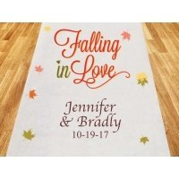 Falling In Love Personalized Wedding Aisle Runner