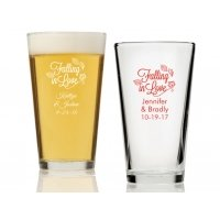 Falling in Love Personalized 16 oz Pint Glass