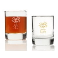 Falling in Love Personalized Votives or Shot Glass