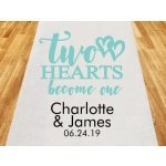 Two Hearts Become One Personalized Aisle Runner