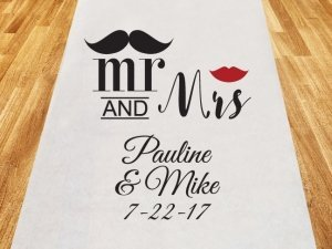 Mr. and Mrs. Personalized Aisle Runner image