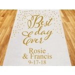 Best Day Ever Personalized Wedding Aisle Runner