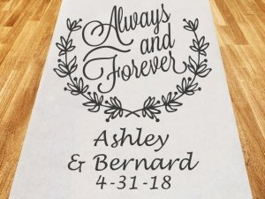 Always and Forever Personalized Wedding Aisle Runner image