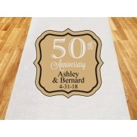 50th Anniversary Personalized Wedding Aisle Runner