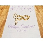 Sweet 16 or 15 Masquerade Personalized Aisle Runner