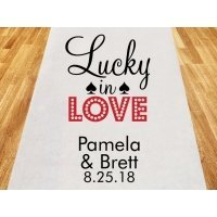 Lucky in Love Personalized Wedding Aisle Runner