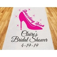 The Dazzling Diva Personalized Wedding Aisle Runner