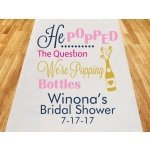 He Popped The Question Personalized Aisle Runner