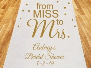 From Miss to Mrs. Personalized Wedding Aisle Runner image