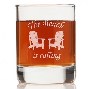 The Beach Is Calling Rock Glasses (Set of 4) image