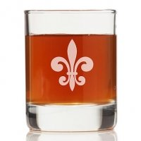 Fleur de Lis Glass Rock Glasses (Set of 4)