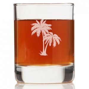 Palm Tree Mason Rock Glasses (Set of 4) image
