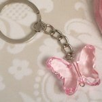 Pink Butterfly Keychain Favors