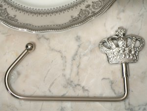 Silver Royal Crown Handbag Holder image