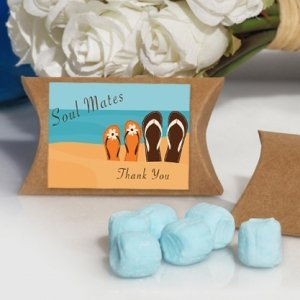 Soul Mates Beach Design Blue Mint Favor Boxes image