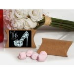Dazzling Shoe Sweet 16 Pink Mint Favor Boxes
