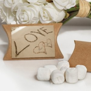 Love on the Beach White Mint Favors Boxes image