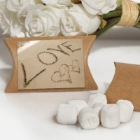 Love on the Beach White Mint Favors Boxes