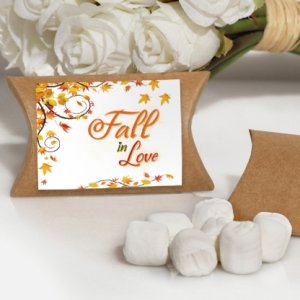 Fall in Love Design White Mint Favor Boxes image