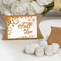 Fall in Love Design White Mint Favor Boxes