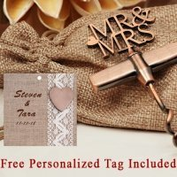 Personalized Copper Elegance Mr. And Mrs. Wine Opener