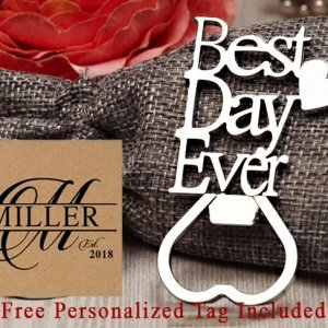 Personalized Our Best Day Ever Chrome Bottle Opener image