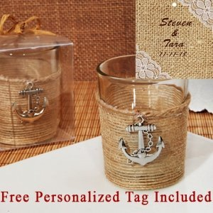 Personalized Unique Rustic Nautical Candle Holder image