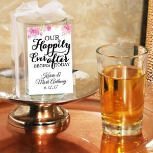 Happily Ever After Custom Gift Boxed Shot Glass Favor image