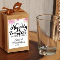 Happily Ever After Custom Craft Box Shot Glass Favor