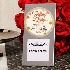 Falling In Love Personalized Mini Photo Frame Favors image