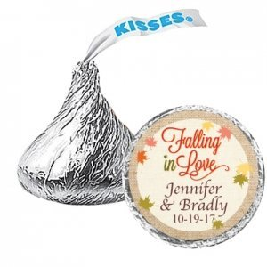 Falling In Love Personalized Hershey's Chocolate Kisses favo image