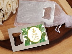 Palm Beach Glam Personalized Silver Bottle Opener image