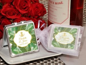 Palm Beach Glam Personalized Compact Mirror image