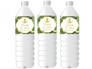Palm Beach Glam Personalized Water Bottle Sticker image