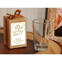 Best Day Ever Personalized Shot Glass Favors in Kraft Box