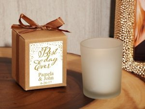Best Day Ever Personalized Kraft Box Frosted Candle Favor image