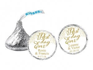 Best Day Ever Personalized Hershey's Chocolate Kisses favors image