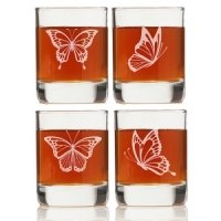 Butterfly Shot Glass Favors (Set of 4)